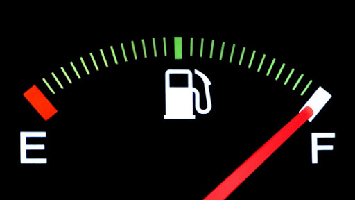 Picture showing a graphical representation of fuel gauge