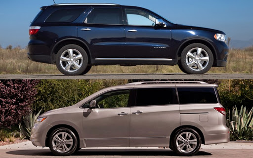 picture of minivan and SUV