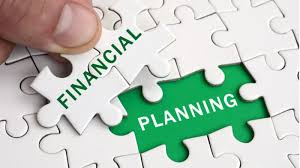 Financial planning symbol with puzzle
